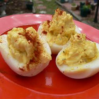 Ranch-Style Deviled Eggs.