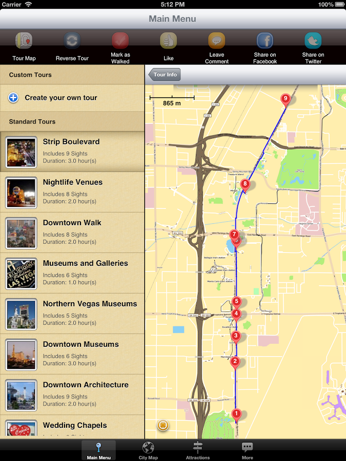 Las Vegas Map And Walks Android Apps On Google Play