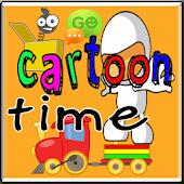 Cartoon Time Go SMS Theme HD