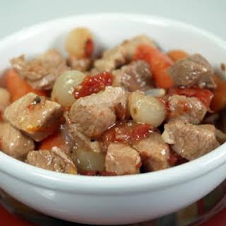 Herbed Pork And Vegetable Stew.