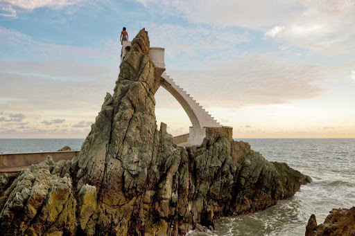 Mazatlan-Divers-Rock - Famed Diver's Rock in Mazatlan. (Um, check your insurance coverage first.)