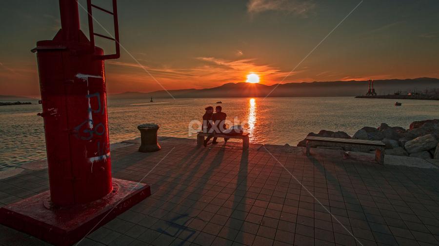 Rijeka harbour at sunset by Stanislav Horacek - Landscapes Sunsets & Sunrises
