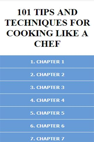 TIPS FOR COOKING LIKE A CHEF
