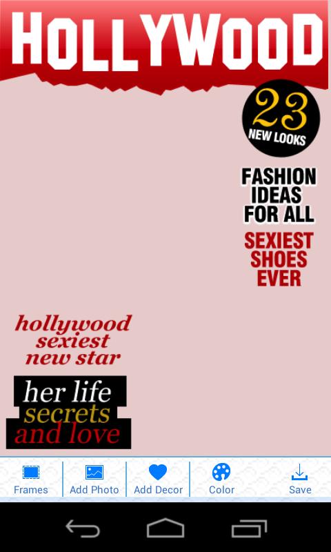Funny Magazine Camera- screenshot