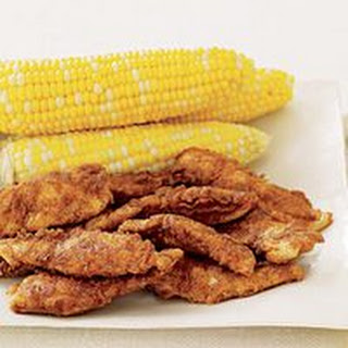 Tex-Mex Buttermilk Chicken Tenders and Corn on the Cob.