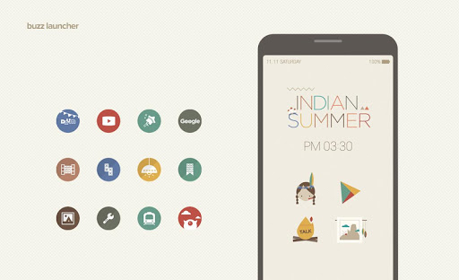 Indian Buzz Launcher Theme