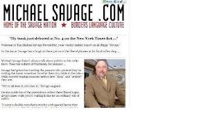Screenshot of The Savage Nation Mobile Web