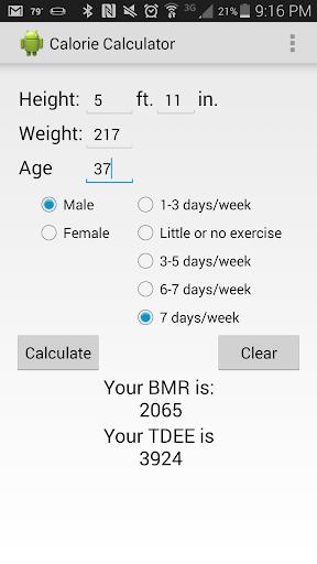 Calorie Calculator 2.0