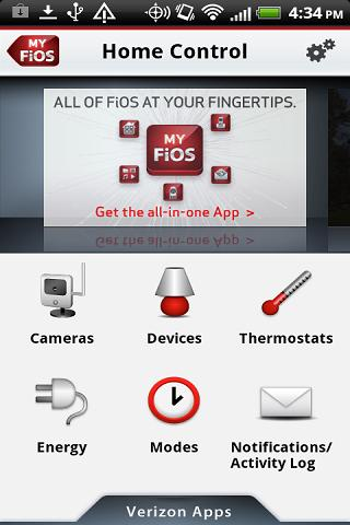 Verizon Home Control - screenshot