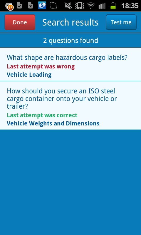 LGV Theory Test UK - screenshot