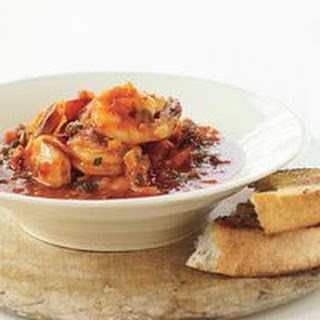 Shrimp with Tarragon and Tomato Sauce.