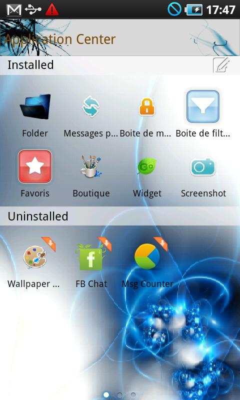 Blue Go SMS PRO- screenshot