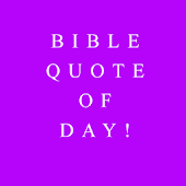 Bible Quote of the day