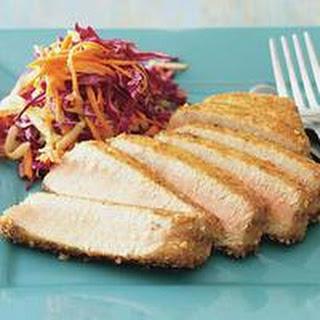 Rice CrackerCrusted Tuna with Apple Slaw.