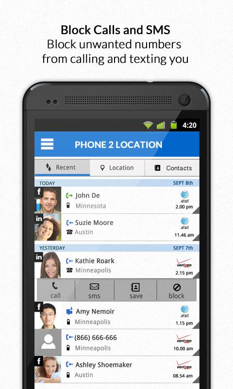 Mobile Number & Phone Location - screenshot