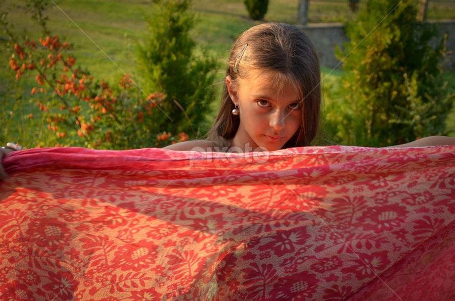 Red by Boryana Dyankova - Babies & Children Child Portraits ( children. red, girl, green, portret )
