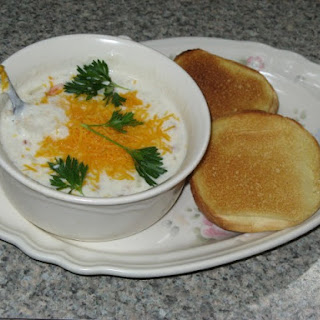 Cream of Potato Soup With Hash Browns.