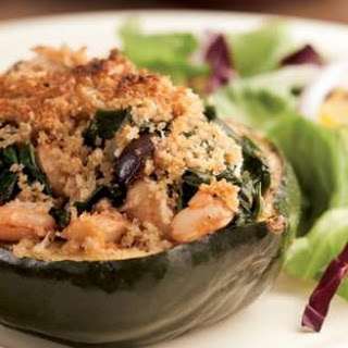 Acorn Squash Stuffed with Chard & White Beans
