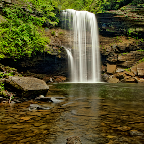 Greeter Falls by Steve Rogers - Landscapes Waterscapes ( waterfalls, nature, waterfall, creek, tennessee )