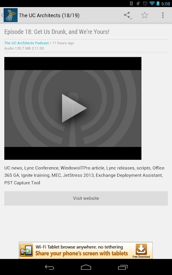 Lync News 2013 - screenshot