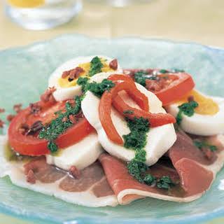 Antipasto Salad with Basil Dressing.