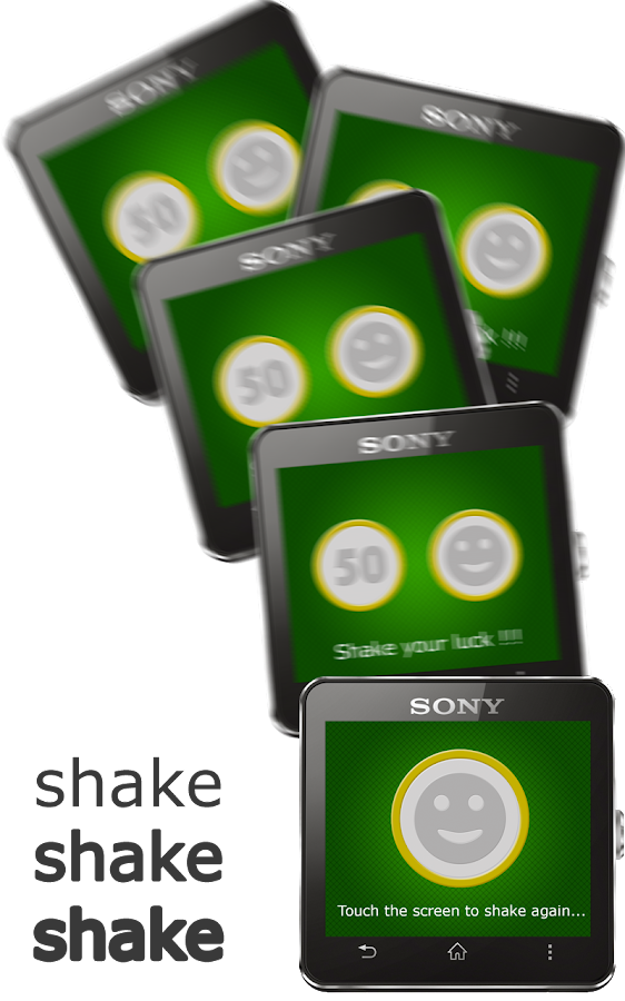 Lucky Shaker for SmartWatch 2- screenshot