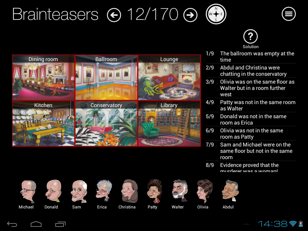 Murder Mystery Brainteasers- screenshot