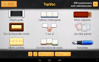 Screenshot of TopVoc Allemand B2