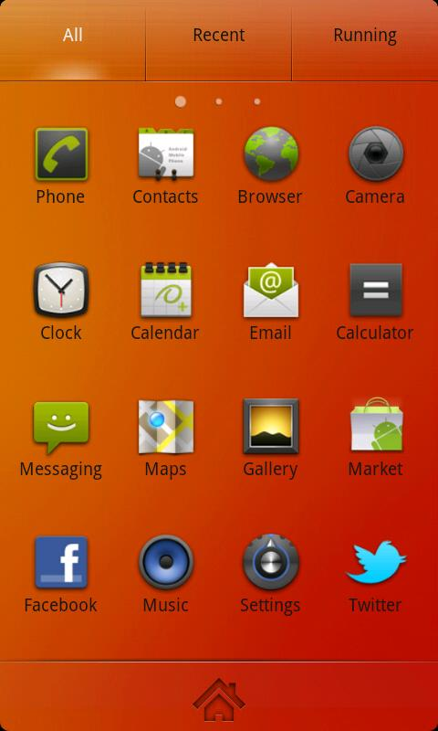 Nanairo Theme GO Launcher EX - screenshot
