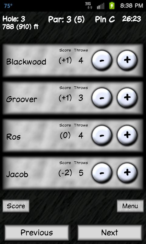 Disc Golf Companion- screenshot