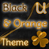 GO Launcher Theme Black Orange