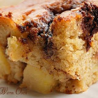 Yogurt Apple Cake with a Cinnamon Streak.