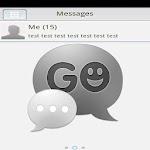 GO SMS PRO Theme - Black White 2.7 Apk