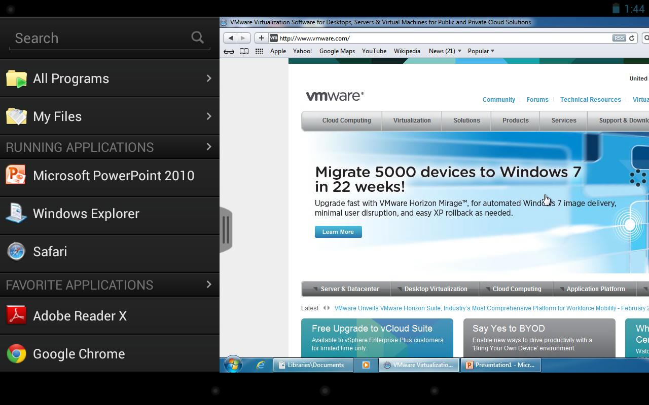 VMware Horizon View Client - screenshot