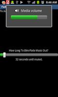 Screenshot of Fade To Black Volume Dimmer