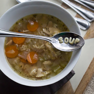 Homemade Alphabet Chicken Soup
