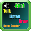 4 in 1, Talk Listen Draw Notes icon