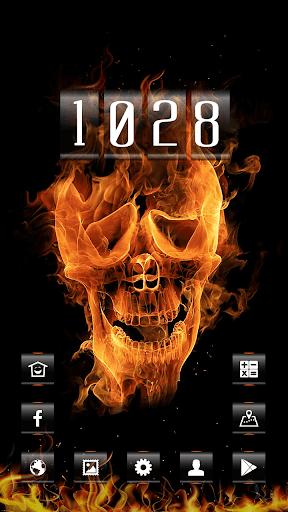 Burning Soul Skull Fire Theme