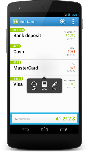 CashFlow Free Expense manager