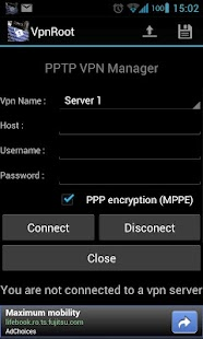 VpnROOT - PPTP - Manager- screenshot thumbnail
