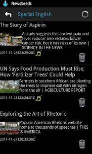 英語力UP:NewsSeeds:VOAの最新ニュース対応- スクリーンショットのサムネイル
