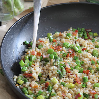 Bacon And Asparagus Fried Couscous