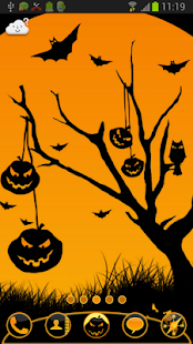 GO Launcher EX Theme Halloween- screenshot thumbnail
