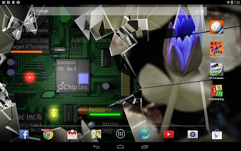 Cracked Screen Gyro 3D Parallax Wallpaper HD- screenshot thumbnail