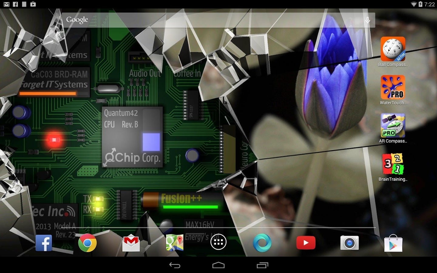 Cracked Screen Gyro 3D Parallax Wallpaper HD- screenshot