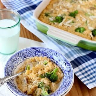Cheesy Broccoli Quinoa Casserole.