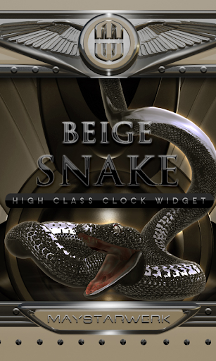 beige snake clock widget