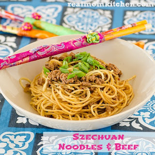 Szechuan Noodles and Beef.