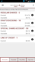 Screenshot of SAMCU Mobile Banking