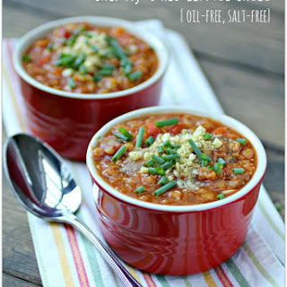 Chef Aj's Red Lentil Chili